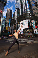 Times Square Dance As Art- The New York Photography Project featuring dancer Julian Watson