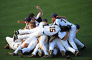 Atlanta -  Marist baseball players celebrate after defeating Whitewater for  the State Class AAAA baseball championship at Marist on Saturday,May 28,2011. ©2011 Johnny Crawford