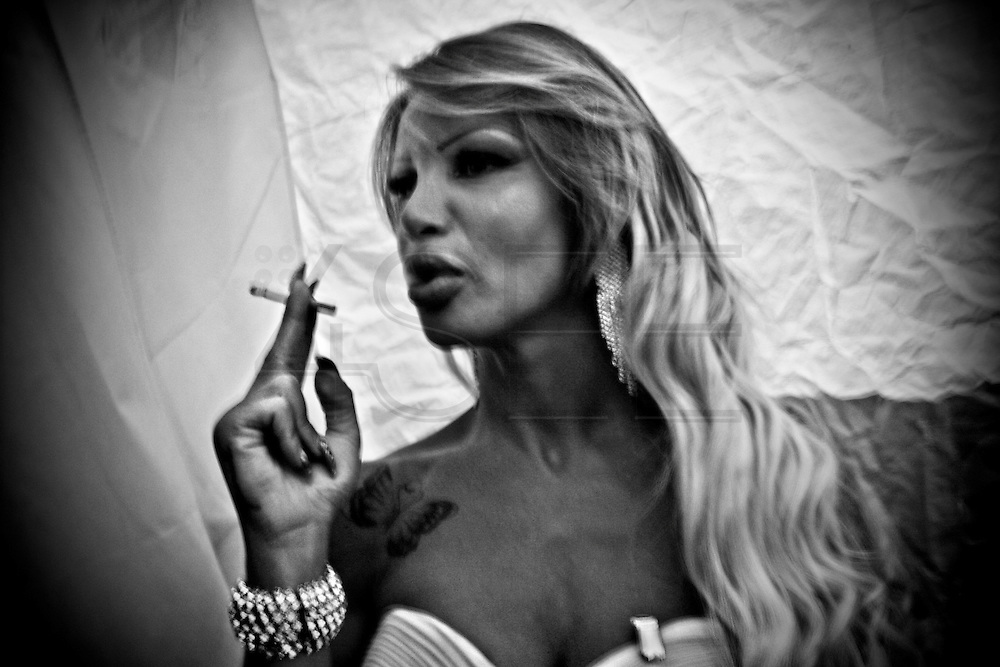 Backstage scenes from Miss Trans Italy 2014. Once a year, transsexuals people from all over Italy and of all ages, meet to participate in this beauty contest. The twenty-second edition of this years  was been hosted in the city of Naples.