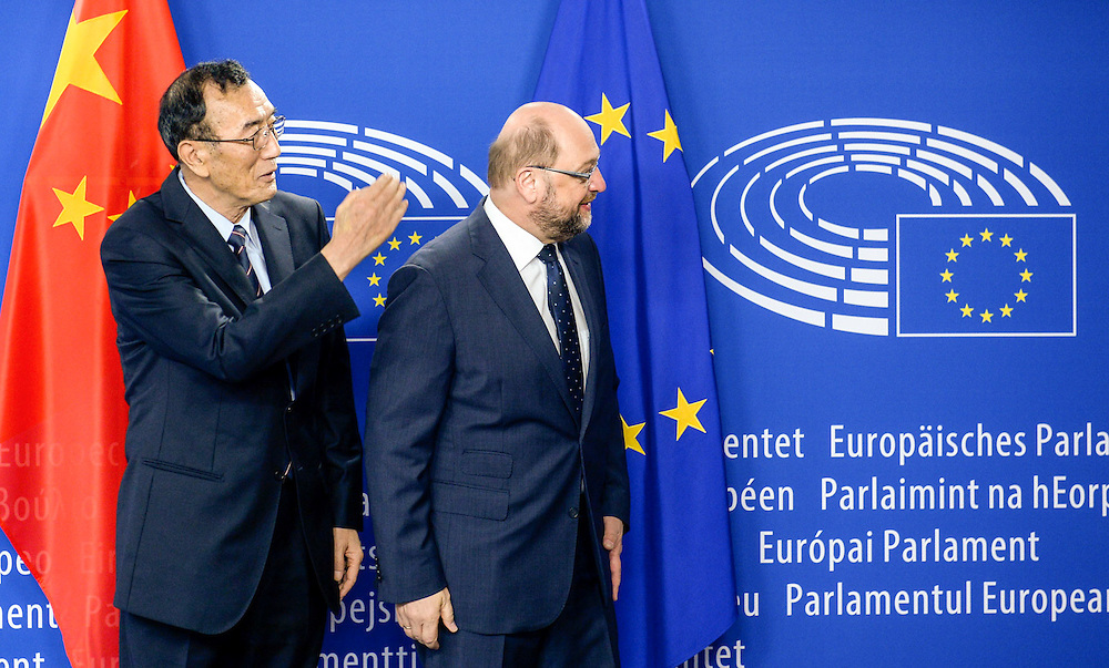 Martin SCHULZ - EP President meets with Qiangba UNCOG - vice-chairman of the Standing Committee of the National People's Congress