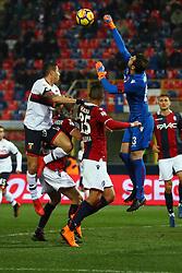 """Foto Filippo Rubin<br /> 24/02/2018 Bologna (Italia)<br /> Sport Calcio<br /> Bologna - Genoa - Campionato di calcio Serie A 2017/2018 - Stadio """"Renato Dall'Ara""""<br /> Nella foto: ANTONIO MIRANTE  (BOLOGNA)<br /> <br /> Photo by Filippo Rubin<br /> February 24, 2018 Bologna (Italy)<br /> Sport Soccer<br /> Bologna vs Genoa - Italian Football Championship League A 2017/2018 - """"Renato Dall'Ara"""" Stadium <br /> In the pic: ANTONIO MIRANTE  (BOLOGNA)"""