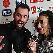 Ben Jardine interview by Farah TV attend at Asian Restaurant & Takeaway Awards | ARTA 2018 at InterContinental London - The O2, London, UK. 30 September 2018.