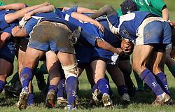 Rugby match between National team of Slovenia (green) and Israel (blue) at European Championship of C group 3rd division, on April 26, 2008, in Stanezice, Ljubljana, Slovenia. Match was won by Slovenia 17:5. Team of Slovenia: Potnik, SlapniËar, MikliË, Gobec, KrsmanoviÊ, Miljuö, Duh, DjuratoviÊ, Troppan, KavËiË (kap.), Kralj, Volavöek U., Arko, Kos, Burnik, LaziÊ, Zavröan, Spreizer, JoviÊ, Volavöek D., Maguöar, Dragman (Photo by Vid Ponikvar / Sportal Images)/ Sportida)
