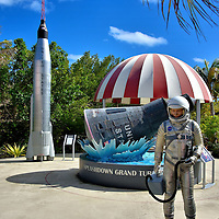 Splashdown Exhibit at Cruise Center in Grand Turk, Turks and Caicos Islands <br />