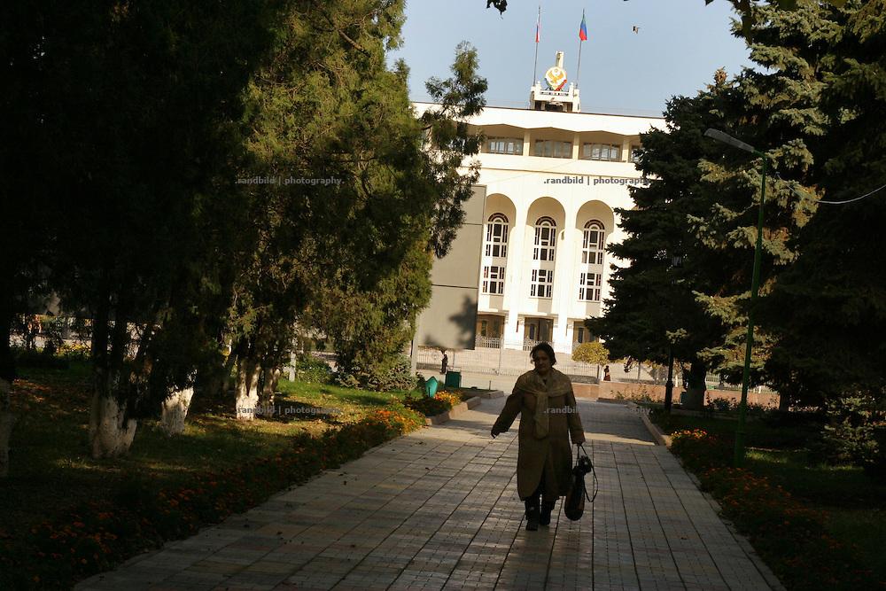 Blick auf das Regierungsgebäude von Dagestan in Machatschkala. View to the building of the dagestani government in Makhachkala.