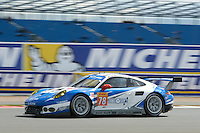 Christian Ried (DUE) / Wolf Henzler (DUE) / Joel Camathias (CHE) #78 KCMG Porsche 911 RSR, WEC 6 Hours of Silverstone 2016 at Silverstone, Towcester, Northamptonshire, United Kingdom. April 17 2016. World Copyright Peter Taylor/PSP.