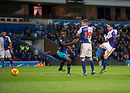 Corry Evans of Blackburn Rovers (right) scores his team's 2nd goal to make it 2-1 during the Sky Bet Championship match at Ewood Park, Blackburn<br /> Picture by Russell Hart/Focus Images Ltd 07791 688 420<br /> 28/11/2015