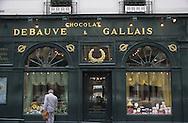 France. Paris. 7 th district. Debauve et Gallais  / 30, rue des Saints Pères 75007. old chocolat shop      / facade du magasin Debauve et Gallais  30, rue des Saints Pères 75007   Boutique ancienne.