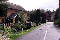 Longparish, near Andover. Richard Faulds got a gold medal in the shooting at the olympics. He lives in Longparish. Richard Faulds parent's house., September 29, 2000. Photo by Andrew Parsons / i-Images..