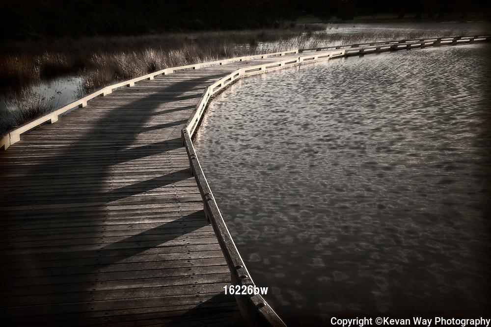 walkway sunrise