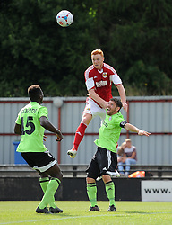 Ryan Taylor of Bristol City and Forest Green Rovers Jared Hodgkiss - Photo mandatory by-line: Dan Rowley/JMP  - Tel: Mobile:07966 386802 20/07/2013 -Forest Green Rovers  vs Bristol City  - SPORT - FOOTBALL - Forest Green Rovers - Bristol city  -