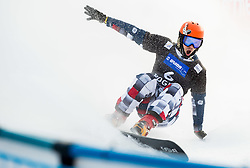 Vic Wild of Russia reacts after placed first during Men's Parallel Giant Slalom at FIS Snowboard World Cup Rogla 2015, on January 31, 2015 in Course Jasa, Rogla, Slovenia. Photo by Vid Ponikvar / Sportida
