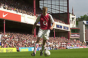 Premiership Football - Arsenal v Leicester City:.2003/04 Season - 15/05/2004  [Record breaking Season undefeated] .Dennis Bergkamp on the ball.[Credit] Peter Spurrier Intersport Images