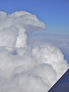 image of clouds from airplane