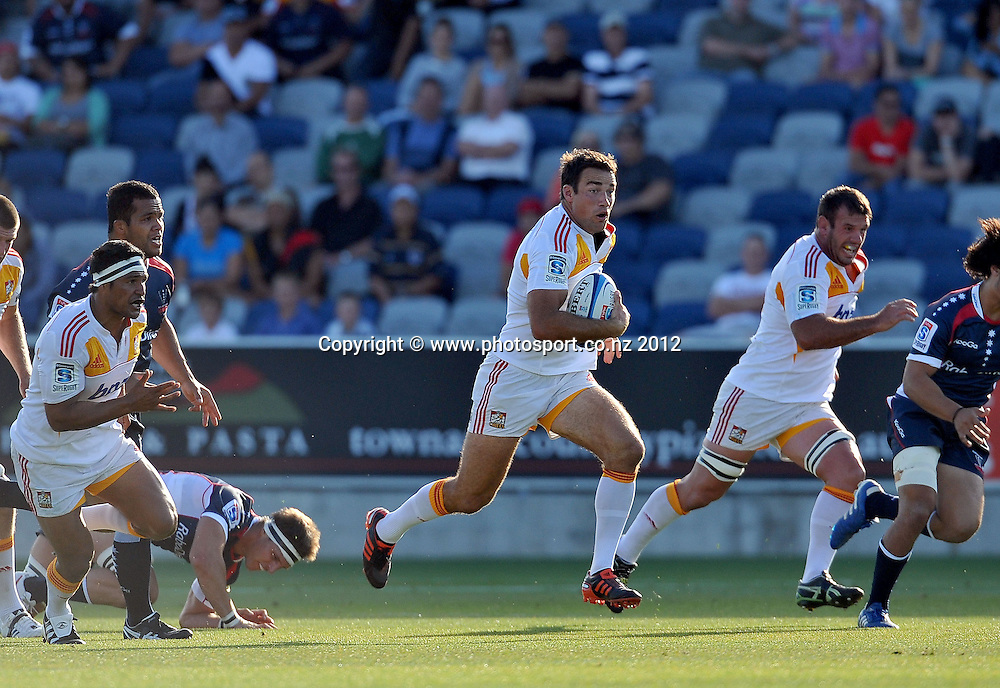 Richard Kahul (Chiefs)<br /> Rebels vs Chiefs<br /> Rugby Union - 2012 Super Rugby<br /> Simonds Stadium, Geelong<br /> Friday 3 February 2012<br /> &copy; Sport the library / Jeff Crow
