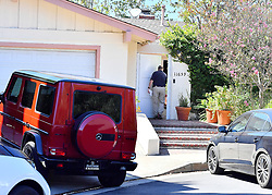 General views of Mac Millers home in Studio city after the rapper reportedly died of a OD. The scene was filled with news crews, police officers, forensics, and the coroners. The rappers friends were also seen outside of the home crying. 07 Sep 2018 Pictured: General views of Mac Millers home in Studio city after the rapper reportedly died of a OD. The scene was filled with news crews, police officers, forensics, and the coroners. The rappers friends were also seen outside of the home crying. Photo credit: Marksman / MEGA TheMegaAgency.com +1 888 505 6342