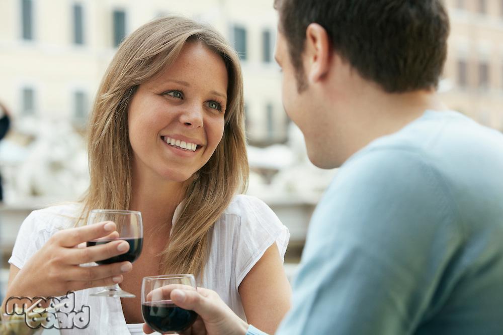Couple Drinking Wine