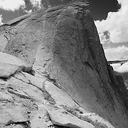Half Dome North Saddle Edge - Yosemite - Black & White