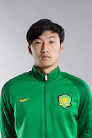Portrait of Chinese soccer player Jin Pengxiang of Beijing Sinobo Guoan F.C. for the 2017 Chinese Football Association Super League, in Benahavis, Marbella, Spain, 18 February 2017.