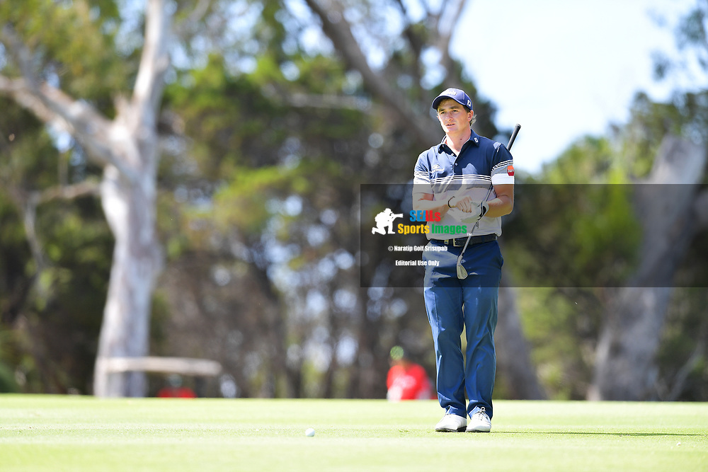 PERTH, AUSTRALIA - FEBRUARY 16: Paul Dunne (IRL) on the 18th fairway during the 3rd round of the ISPS Handa World Super 6, Lake Karrinyup Country Club, Perth, Western Australia, on February 16, 2019. <br /> .<br /> .<br /> .<br /> (Photo by: Naratip Golf Srisupab/SEALs Sports Images)<br /> .<br /> Any image use must include a mandatory credit line adjacent to the content which should read: Naratip Golf Srisupab/SEALs Sports Images