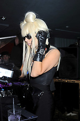 Singer LADY GAGA at the launch party of the Nokia 5800 phone held at PUNK 14 Soho Street, London W1 on 27th January 2009.
