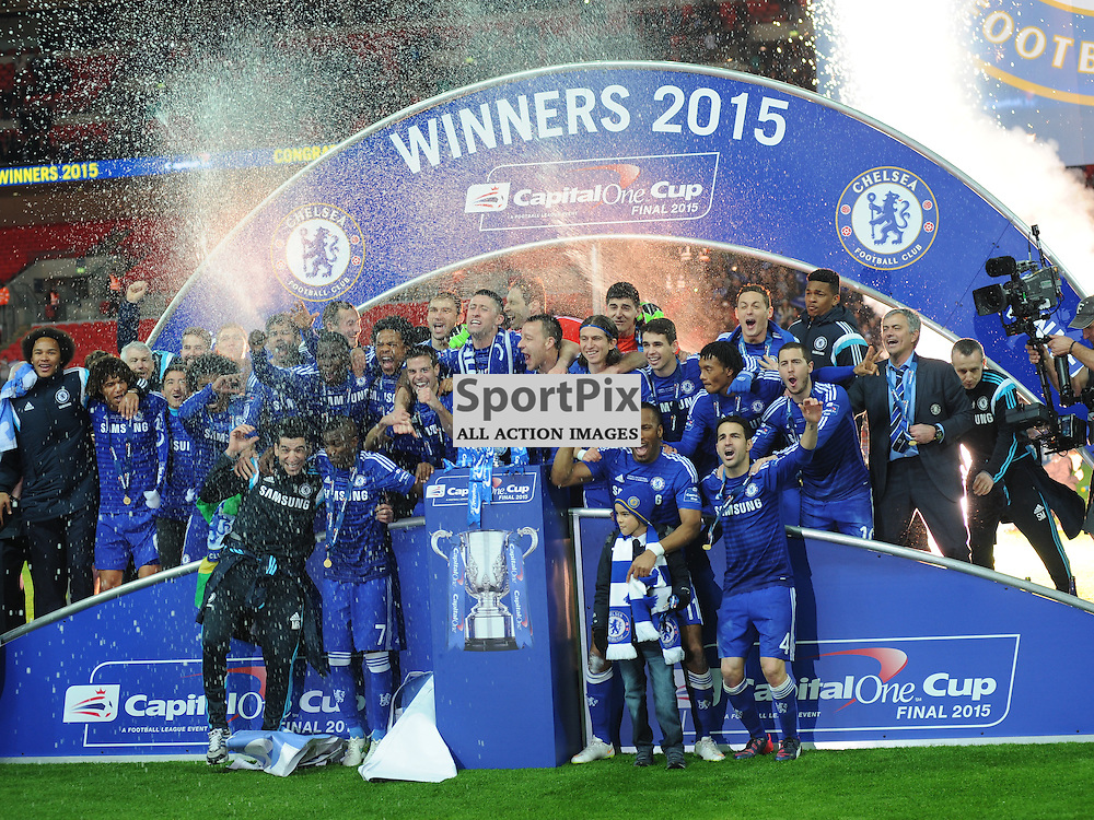 Chelsea Winners Capital One Cup, Capital One Cup Final, Chelsea v Tottenham Hotspur Wembley Stadium Sunday 1st March 2015
