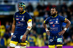Alivereti Raka of ASM Clermont Auvergne and Sebastien Vahaamahina of ASM Clermont Auvergne - Mandatory by-line: Robbie Stephenson/JMP - 10/05/2019 - RUGBY - St James' Park - Newcastle, England - ASM Clermont Auvergne v La Rochelle - European Rugby Challenge Cup Final