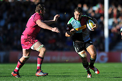 Nick Easter of Harlequins goes on the attack - Photo mandatory by-line: Patrick Khachfe/JMP - Mobile: 07966 386802 04/10/2014 - SPORT - RUGBY UNION - London - The Twickenham Stoop - Harlequins v London Welsh - Aviva Premiership