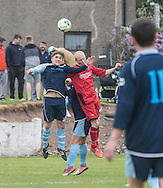 - FC Kettledrum (blue) v Hawkhill Athletic (red), George McArthur memorial cup final at Glenesk.<br /> <br />  - &copy; David Young - www.davidyoungphoto.co.uk - email: davidyoungphoto@gmail.com