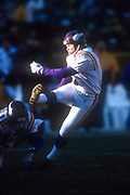 Minnesota Vikings kicker Gary Anderson (1) kicks a 42-yard field goal out of the hold of Lee Johnson (12)  in the third quarter against the Green Bay Packers during an NFL football game, Sunday, Dec. 30, 2001, in Green Bay, Wisc. The Packers defeated the Vikings 24-13.