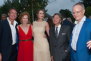 TIM JEFFERIES; JULIA PEYTON-JONES; MISCHA BARTON; LEON MAX; HANS ULRICH OBRIST, Serpentine Summer party 2012 sponsored by Leon Max. Pavilion designed by Herzog & de Meuron and Ai Weiwei. Kensington Gardens. London. 26 June 2012.