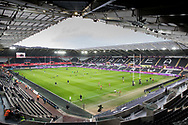 A general view of Liberty Stadium, home of Ospreys<br /> <br /> Photographer Simon King/Replay Images<br /> <br /> Guinness PRO14 Round 19 - Ospreys v Connacht - Friday 6th April 2018 - Liberty Stadium - Swansea<br /> <br /> World Copyright &copy; Replay Images . All rights reserved. info@replayimages.co.uk - http://replayimages.co.uk