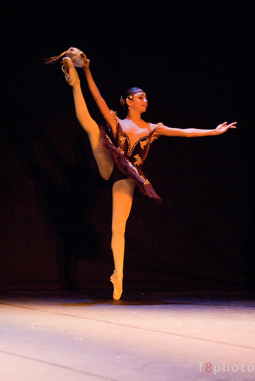 "The young dancer Mariana Layun during the Ballet Gala ""Reflejos"" performing ""Esmeralda""  in the Second International Dance Festival Ibérica Contemporánea, Querétaro, México, 2009."