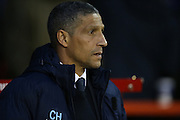 Brighton Manager, Chris Hughton during the Sky Bet Championship match between Nottingham Forest and Brighton and Hove Albion at the City Ground, Nottingham, England on 11 April 2016.