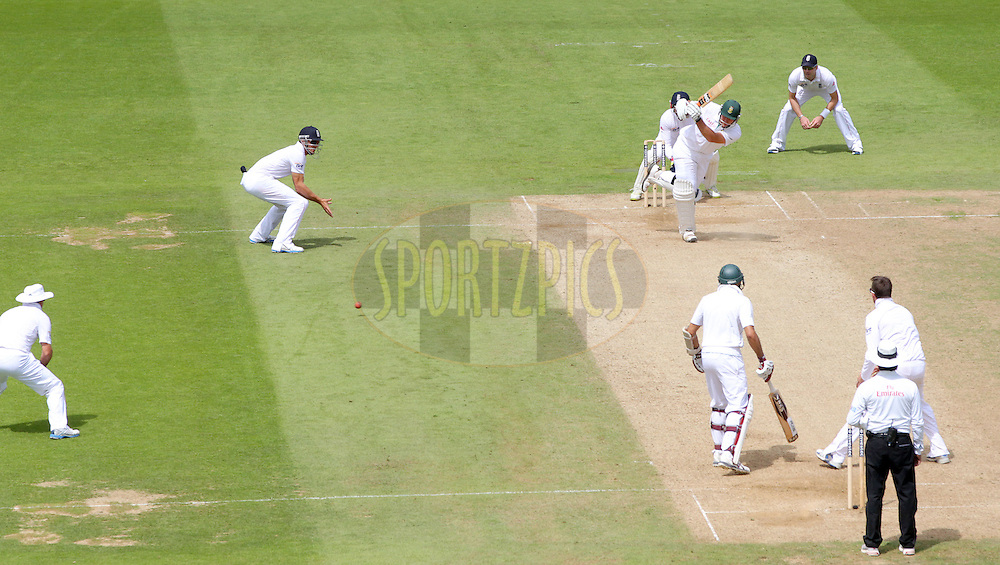 © Andrew Fosker / Seconds Left Images 2012 - South Africa's Graeme Smith clips the ball off his legs on as he builds to  his hundredth hundred , 100, century - England v South Africa - 1st Investec Test Match -  Day 3 - The Oval  - London - 21/07/2012