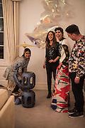 SOL CALERO; JESSIE VAUGHAN; VALERIA NAPOLEONE; JOE SCOTLAND; , Valeria and Gregorio Napoleone and Joe Scotland host a dinner at therir home in Kensington  in celebration of Sol  Calero's commission at Studio Voltaire.  London. 13 October 2015