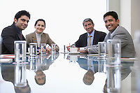 Portrait of business associates during meeting