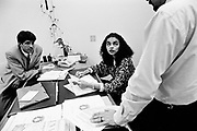 Marina Silva (Rio Branco-Brazil 1958). In her office in Brasilia in july 1997, then member of the brazilian senate for the state of Acre.She was member of the Partido dos Trabalhadores (PT), and main collaborator of Chico Mendes, the landless leader killed december 22nd, 1988, in Xapuri. In 1994, she was elected to the Senate at the age of 36.In 2003, she was Lula's minister of environment.In 2009, she left the PT for the Brazil Green party, and decided to run for presidency in 2010.