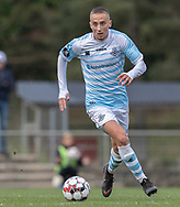 Lucas Haren (FC Helsingør) under kampen i 2. Division mellem Slagelse B&I og FC Helsingør den 6. oktober 2019 på Slagelse Stadion (Foto: Claus Birch).