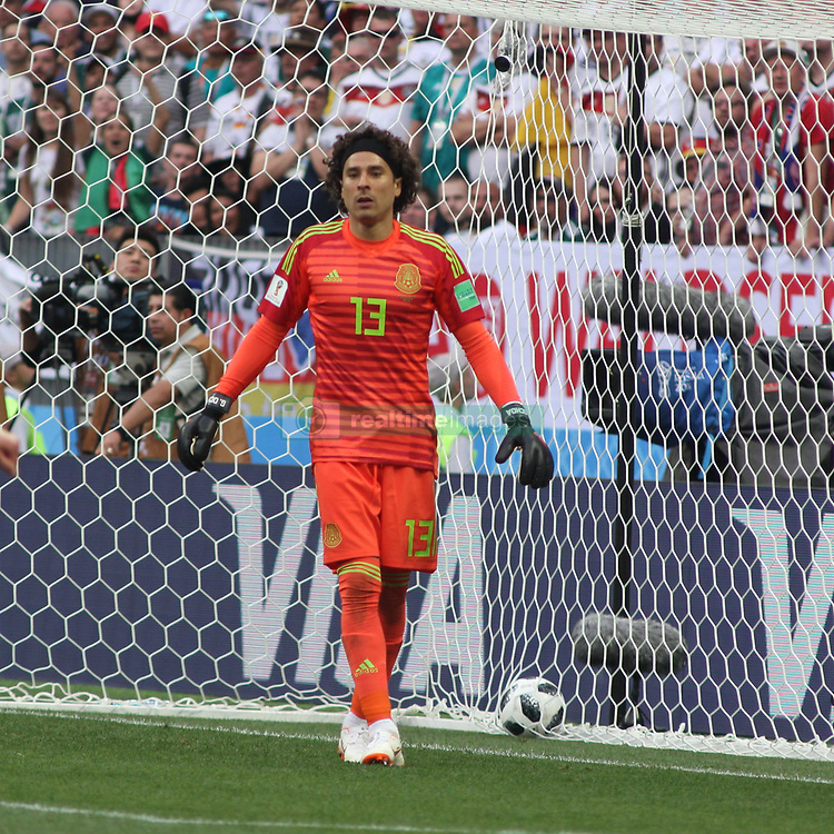 June 17, 2018 - Moscow, Russia - June 17, 2018, Russia, Moscow, FIFA World Cup, First round, Group F, Germany vs Mexico at the Luzhniki stadium. Player of the national team Main coach; trainer; Guillermo Ochoa. (Credit Image: © Russian Look via ZUMA Wire)