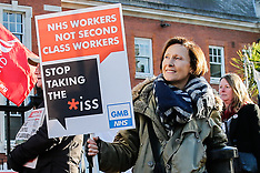 19 Dec 2017 - GMB day of action against ISS low pay at the Maudsley Hospital.