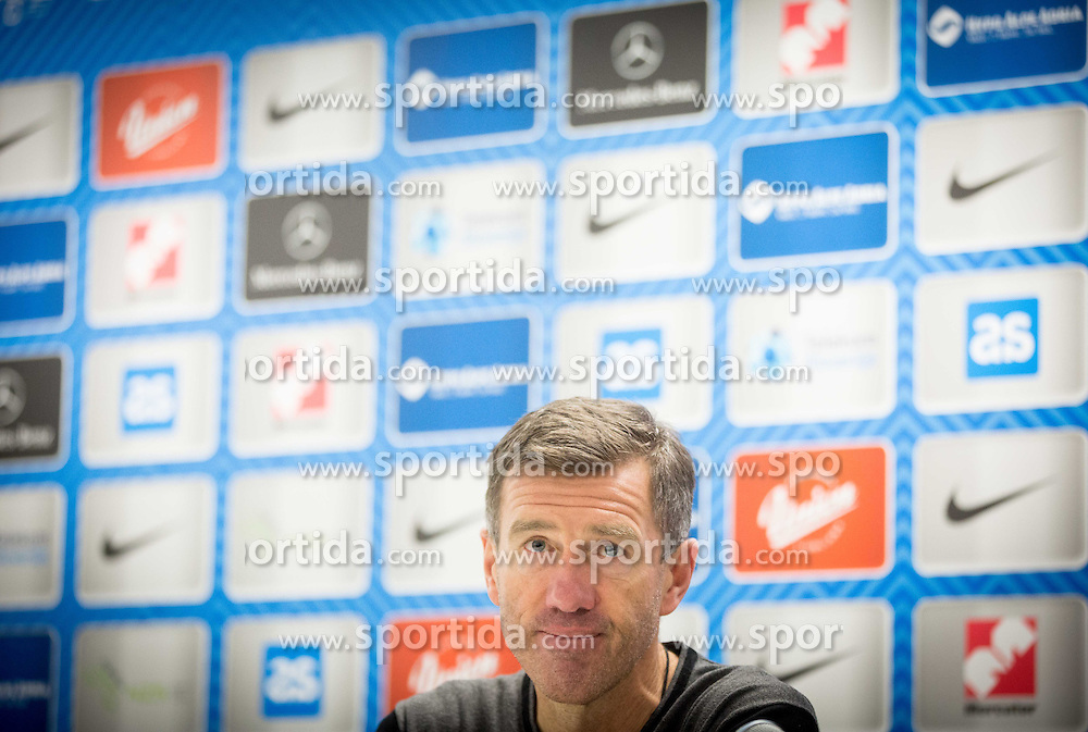 Srecko Katanec, head coach of Slovenia during press conference after the friendly football match between National teams of Slovenia and FYR Macedonia, on March 23, 2016 in Stadium Bonifika, Koper/Capodistria, Slovenia. Photo by Vid Ponikvar / Sportida