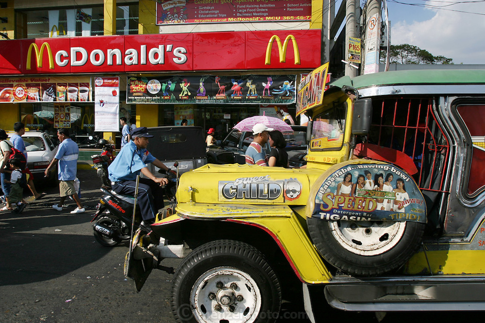 McDonald's fast food restaurant in Manila, Philippines. (Supporting image from the project Hungry Planet: What the World Eats.)