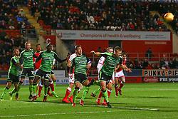 David Fox of Plymouth Argyle heads the ball away - Mandatory by-line: Ryan Crockett/JMP - 16/12/2017 - FOOTBALL - Aesseal New York Stadium - Rotherham, England - Rotherham United v Plymouth Argyle - Sky Bet League One