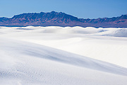 Sand dunes and San Andres Mountains, White Sands National Monument, New Mexico.