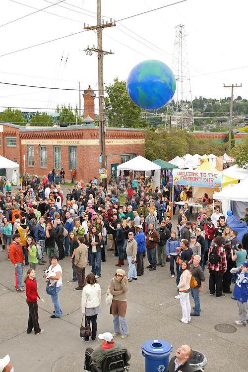 Birds eye views of Fremont Fair 2010.