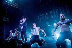 November 13, 2018 - Lewis Capaldi performs live onstage recreating the Grace music video with male strippers during his sold out show at o2 Shepherds Bush Empire, London, United Kingdom on November 13th 2018 (Credit Image: © RMV via ZUMA Press)