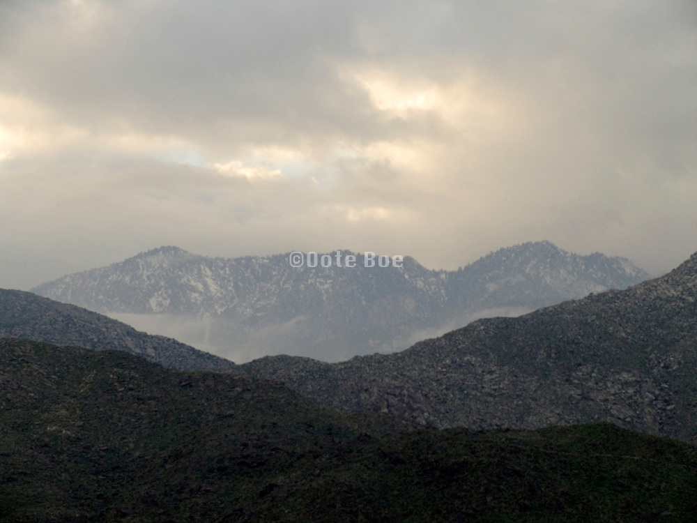 mountain peaks near Palm Springs USA