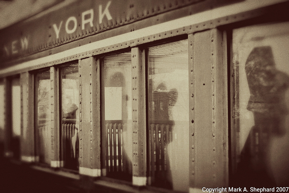 The New York Central Railroad Museum in Elkhart, Indiana is a popular downtown destination for train enthusiasts. This is a vintage Photoshop treatment. (Photo By Mark Shephard)