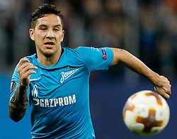 November 23, 2017 - Saint Petersburg, Russia - Sebastian Driussi of FC Zenit Saint Petersburg in action during the UEFA Europa League Group L match between FC Zenit St. Petersburg and FK Vardar at Saint Petersburg Stadium on November 23, 2017 in Saint Petersburg, Russia. (Credit Image: © Mike Kireev/NurPhoto via ZUMA Press)